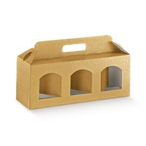 Cutii cadou din carton cu maner pentru 2 sau 3 borcane, cutii cadou dimensiuni variate de borcane  - imagine 3