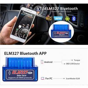 Diagnoza Auto Elm327 Mini Bluetooth OBDII OBD2 versiunea 1.5 - imagine 2
