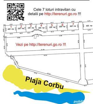 Teren Plaja Corbu Marea Neagra intravilan zona VIP - imagine 1