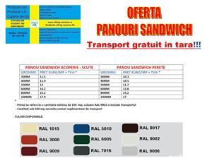 Panouri sandwich, hale metalice , tabla tip tigla , cutata , ferestre mansarda, aticuri , pervaze  - imagine 6