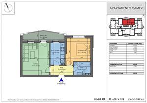 Apartament 2 camere 45.000 decomandat - imagine 2