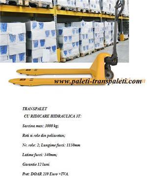 Transpalet manual de 0.5T/ 2t / 2.5t/3T cu ridicare hidraulica - imagine 8