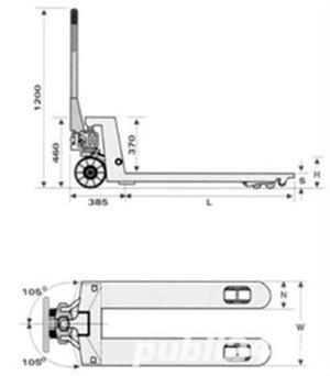 Transpalet manual hidraulic de 2 tone, 2.5 tone, 3 tone 490 RON - imagine 5