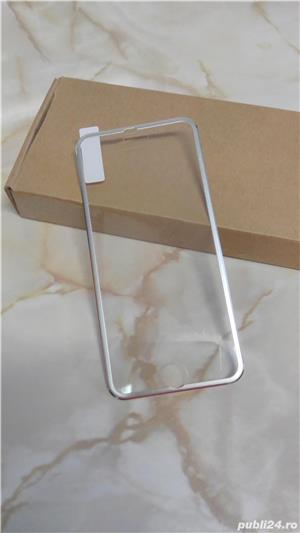 Folie de protectie din sticla securizata Iphone 6/6S, margine aluminiu - imagine 3