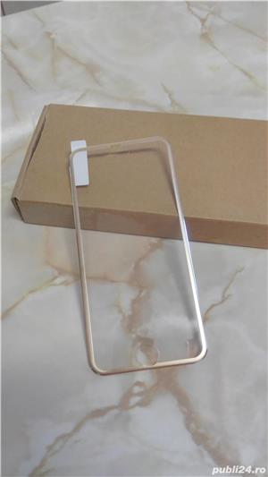Folie de protectie din sticla securizata Iphone 6/6S, margine aluminiu - imagine 2