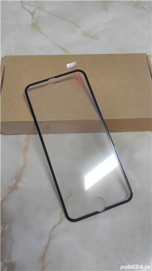 Folie de protectie din sticla securizata Iphone 6/6S, margine aluminiu - imagine 1
