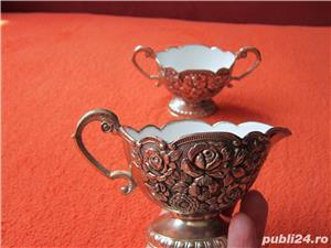 Vintage Victorian Cream & Sugar Set,1950 made in Japan-un cadou inedit - imagine 4
