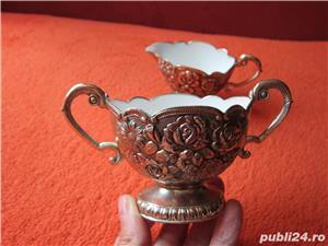 Vintage Victorian Cream & Sugar Set,1950 made in Japan-un cadou inedit - imagine 1