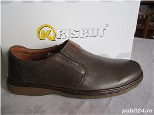 Pantofi din piele neteda maro pentru barbati.Noi. Marime 41-Livrare GRATUITA* - imagine 3