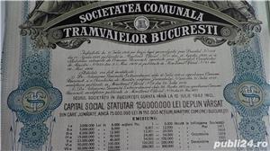 Actiuni vechi Societatea Comunala a Tramvaielor Bucuresti 1923-1943  - imagine 2