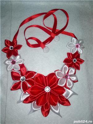 Coliere handmade si suport decor sticla sampanie - imagine 1