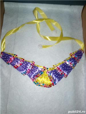 Coliere handmade si suport decor sticla sampanie - imagine 2