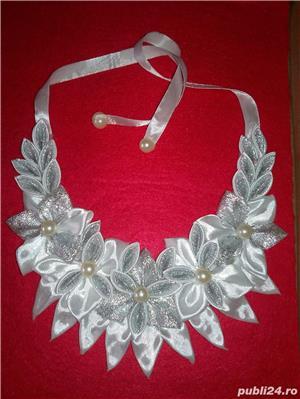 Coliere handmade si suport decor sticla sampanie - imagine 3