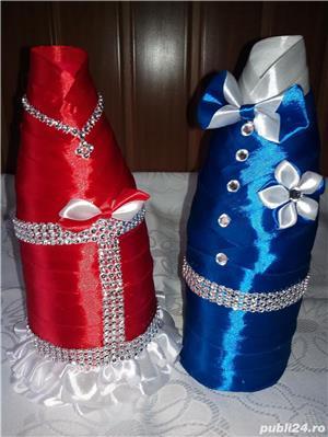 Coliere handmade si suport decor sticla sampanie - imagine 9