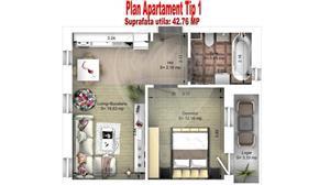 Apartament 2 cam. | 43mpu | Zona Ciresica | Comison 0% - imagine 4