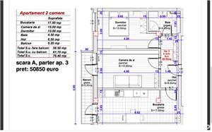 Dezvoltator, 2 camere dec. et.1, 57 mp. utili - imagine 1