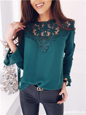 Bluza dama turcoaz - imagine 1