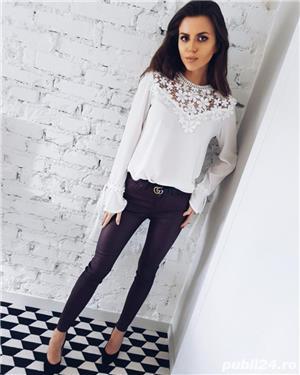 Bluza dama turcoaz - imagine 3