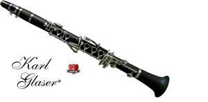 Clarinet Karl Glaser Eb Mi bemol NOU sistem boehm studiu copii ebonita - imagine 1