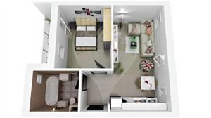 Apartament 2 cam. | 43mpu | Zona Ciresica | Comison 0% - imagine 5