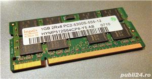 Memorie RAM laptop notebook 1GB SODIMM DDR2 667 MHz PC2-5300S Hynix - imagine 1