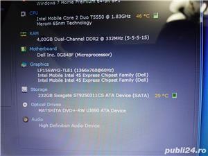 Laptop dell 1545 Core 2duo 4gb Ram 250gb Hard Display 15,6 led Web Cam - imagine 4