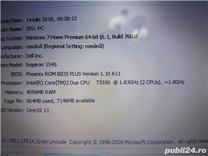 Laptop dell 1545 Core 2duo 4gb Ram 250gb Hard Display 15,6 led Web Cam - imagine 5