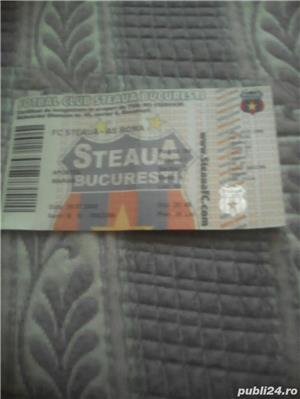 Bilet fotbal nefolosit la meciul Steaua - Roma din 2008 - imagine 1