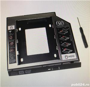 Adaptor unitate optica CD-ROM/DVD to HDD (SSD) 9.5 sau 12,7 mm - imagine 2