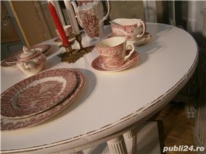 Masa veche din lemn masiv reconditionata (Mobila alba/Table) - imagine 3