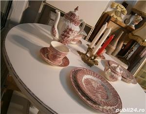 Masa veche din lemn masiv reconditionata (Mobila alba/Table) - imagine 1