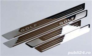 Ornamente inox praguri (9 modele) - VW Golf, Passat, Jetta - imagine 1