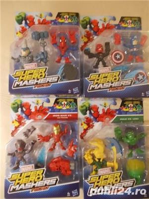 Figurine Hero Mashers - Dinozauri configurabili - Supereroi - vehicule - imagine 3