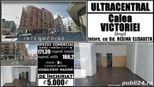 Ultracentral-Calea Victoriei, sp.com. S+P/9, 171mp, vizibilitate maximă! - imagine 1