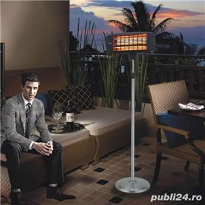 Incalzitor de terasa electric cu raze infrarosii , cu stativ - imagine 2