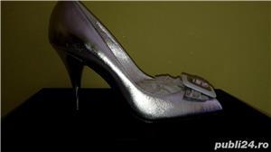 Pantofi Miss Sixty noi,40,argintii,piele naturala - imagine 2