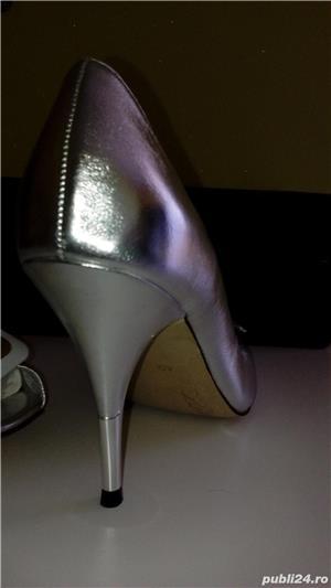 Pantofi Miss Sixty noi,40,argintii,piele naturala - imagine 4
