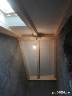 Mansarde cu lemn, rigips, grinzi ornamentale, ancadramente ferestre - imagine 19