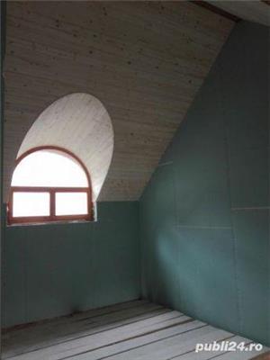 Mansarde cu lemn, rigips, grinzi ornamentale, ancadramente ferestre - imagine 5