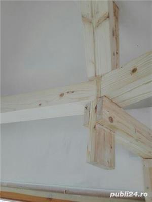 Mansarde cu lemn, rigips, grinzi ornamentale, ancadramente ferestre - imagine 12
