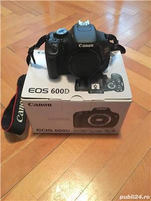 Canon EOS 600D cu 2 obiective si accesorii  - imagine 2