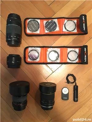 Canon EOS 600D cu 2 obiective si accesorii  - imagine 4