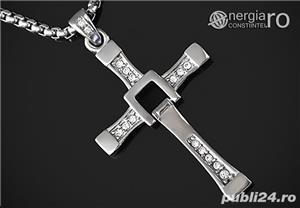 Pandantiv Cruciuliţă Cruce Crucifix Dominic Toretto Vin Diesel Fast and Furious INOX - cod PND049 - imagine 1