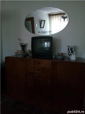 sufragerie din lemn cu furnir nuc stare exceptionala  - imagine 1