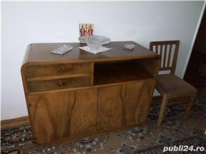 sufragerie din lemn cu furnir nuc stare exceptionala  - imagine 4