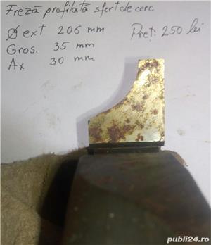 Freza profilata sfert de cerc ptr lemn NOUA 206X35X30 mm - imagine 2
