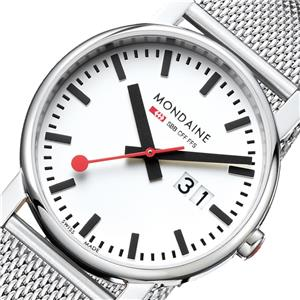 Mondaine Evo 40 Big Date Stainless Steel - imagine 1