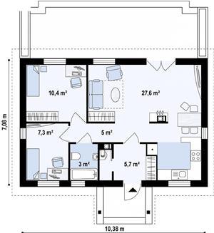 Kit casă 74 mp - imagine 4