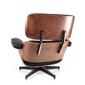 Fotoliu si taburet design Eames Lounge Chair design din piele - imagine 3