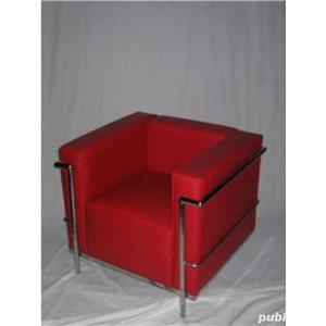 Canapea si fotoliu din piele sau piele ecologica, bar, pub, club, acasa, cabinet, sala asteptare - imagine 10